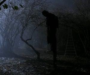 scarecrow, autumn, and dark image