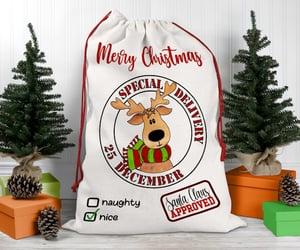 christmas gifts, christmas gift bag, and santa sack design image