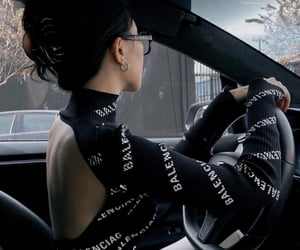 Balenciaga, black, and car image
