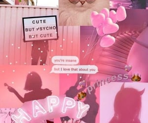 aesthetic, dreamy, and neon pink image