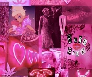 aesthetic, neon pink, and wallpaper image
