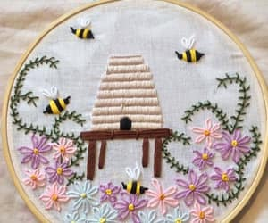 bees, floral, and bumblebee image