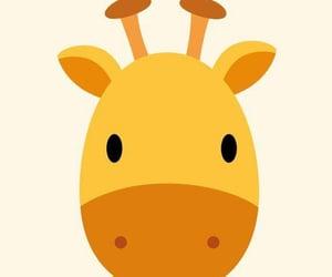 Girafe, yellow, and Jaune image