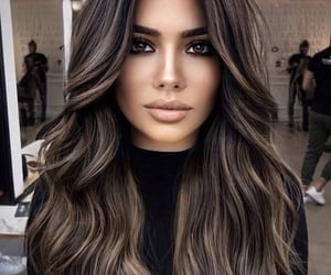 brown, cheveux, and haïr image
