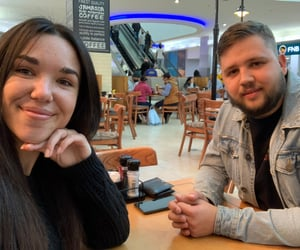couple, lunch date, and date image