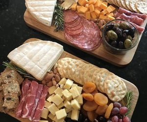 board, cheese, and ham image
