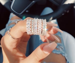 diamonds, nails, and rings image