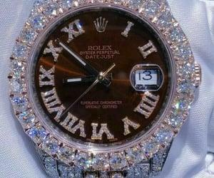 diamonds, rolex, and watch image