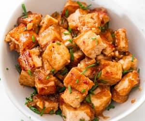 honey, soy sauce, and tofu image