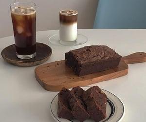 cake, chocolate, and coffee image