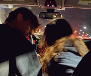couple, car, and Relationship image