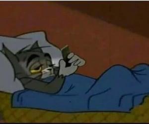 bed, boring, and cartoon image