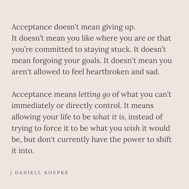 acceptance, control, and giving up image