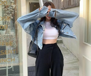 clothes, fashion, and hand bag image