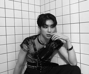 black&white, boy, and Hot image