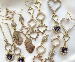 earings, gold, and jewerly image