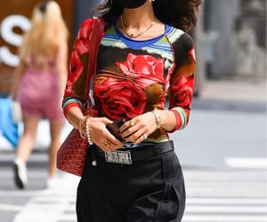 red shirt, street style, and summer image
