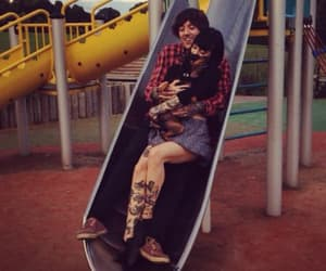 oliver sykes, hannah pixie snowdon, and bmth image