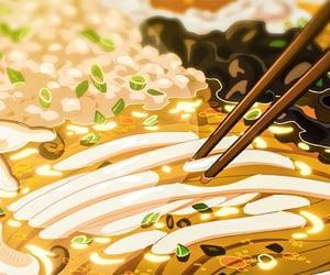 anime, ramen, and food image