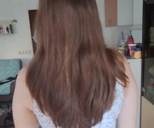 brown hair, hair, and natural hair image