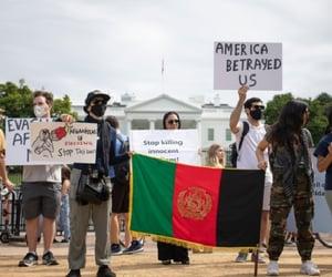 Kabul, protesters, and washington image
