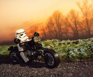 lego, motorbike, and stormtrooper image