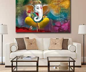 indian painting, wall art, and wall decor image