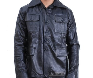 etsy, trench coat, and mens leather jacket image