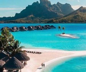 beach, bora bora, and summer image