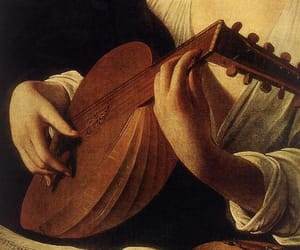 caravaggio, detail, and lute player image