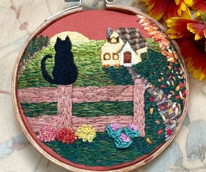 autumn, black cat, and cat image