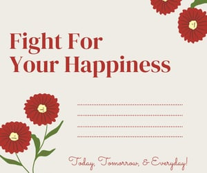 fight, happiness, and quote image