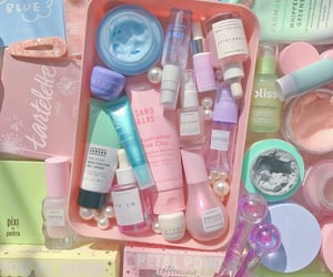 bliss, pastels, and skincare image
