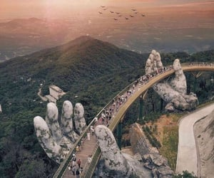 bridges, da nang, and golden bridge image