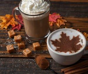latte, autumn, and caramel image