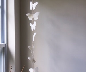 beautiful, butterfly, and garland image