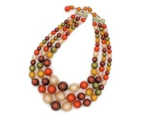 bead necklace, etsy, and autumn necklace image