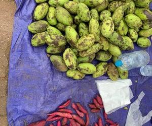 fruit, savanxay market, and Laos image