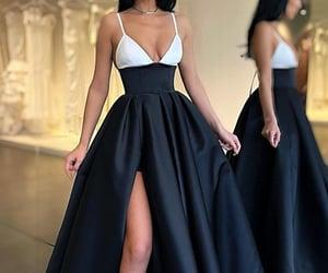 dresses, formal wear, and black prom dress image
