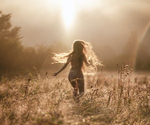ethereal, long hair, and photography image