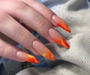 Nails flame