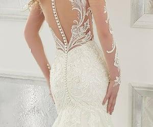 bride, encaje, and dress image