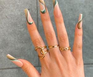 nails, rings, and nailsonfleek image