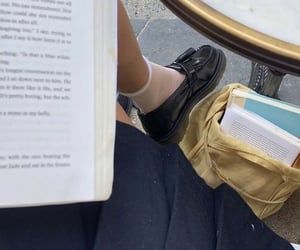 book, girl, and school image