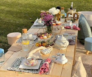 food, picnic, and spring image