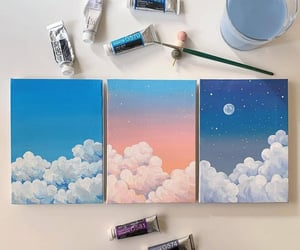 art, clouds, and inspo image