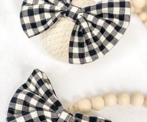 baby girl, hair clip, and hair bow image