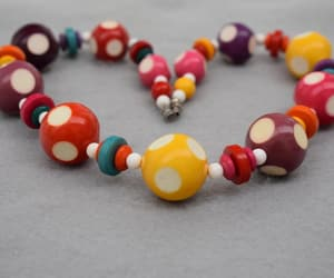 bead necklace, etsy, and 20 inch necklace image