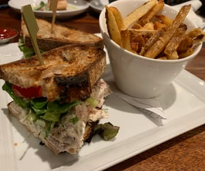 Chicken, food, and sandwich image
