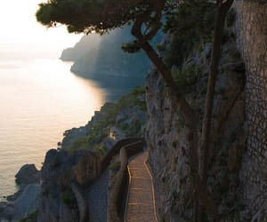 nature, sea, and italy image